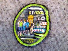 Ben Wilson chewing-gum painting