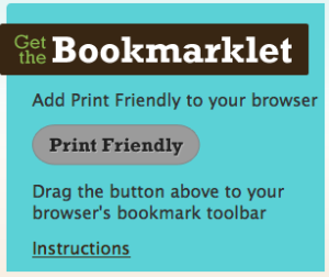Print Friendly bookmarklet