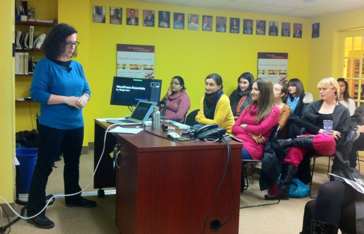 WordPress workshop at YES Montreal