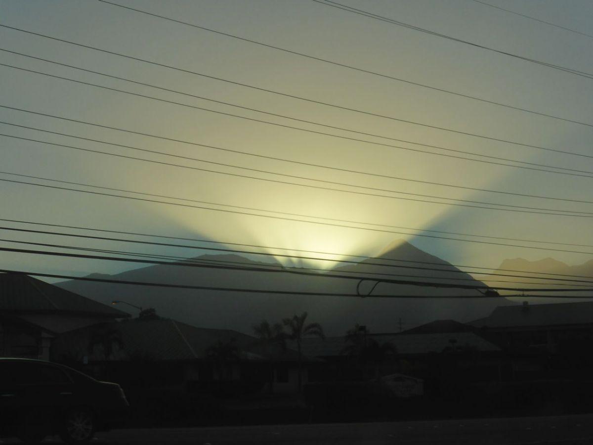 eletrical wires in eerie sunlight effect