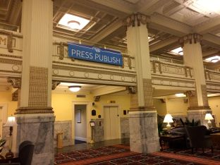 Embassy Suites reminded me of the Grand Budapest Hotel!