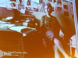 Greta in her office