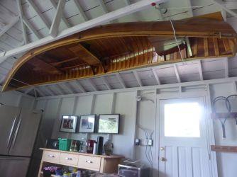canoe on ceiling