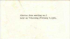 Minutes Envelope