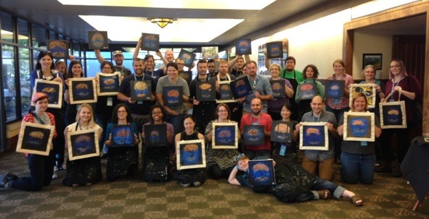 group with our paintings