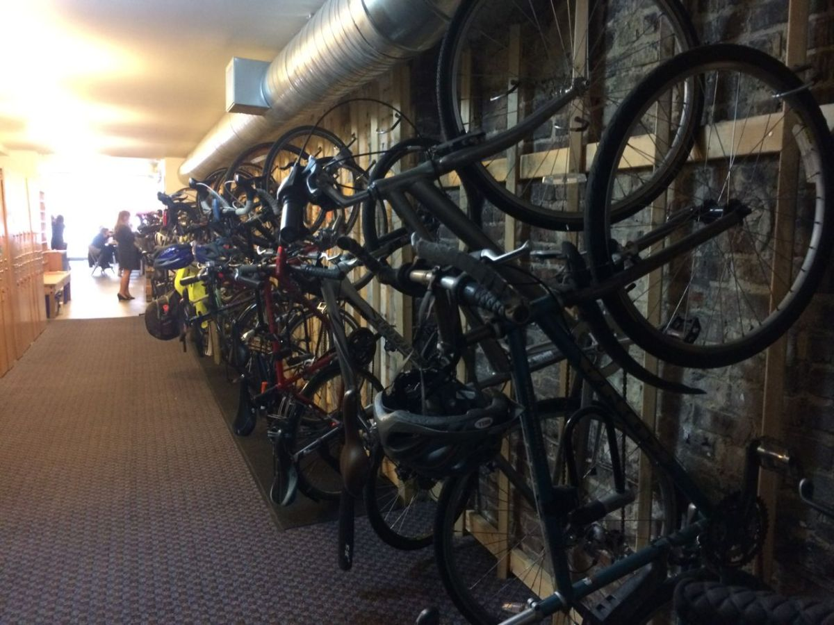 bikes at co-working space