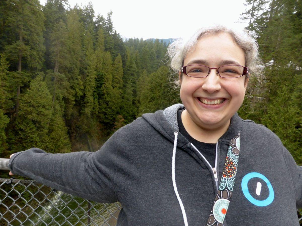 Caroline on the bridge