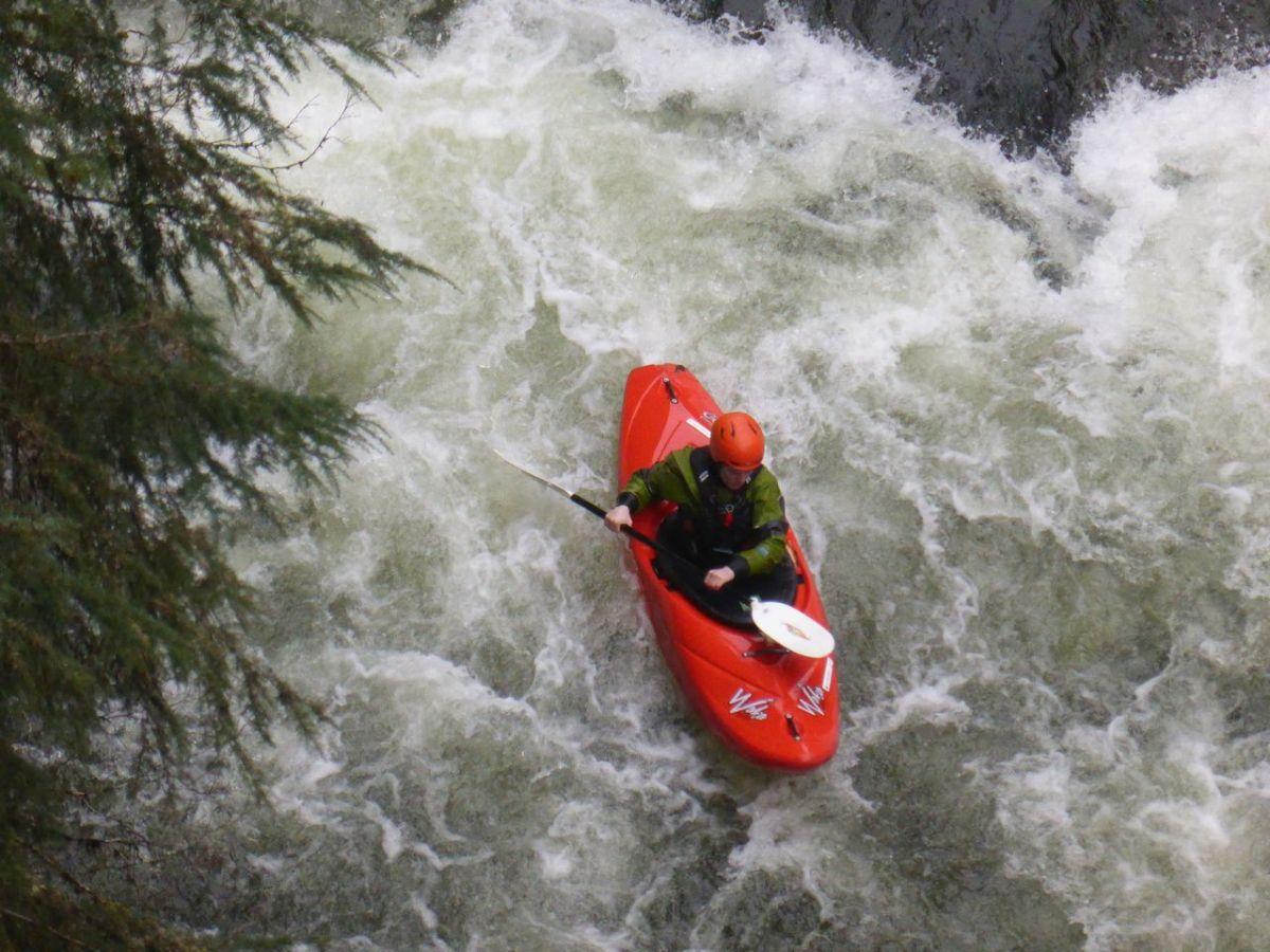 kayaker in rapids