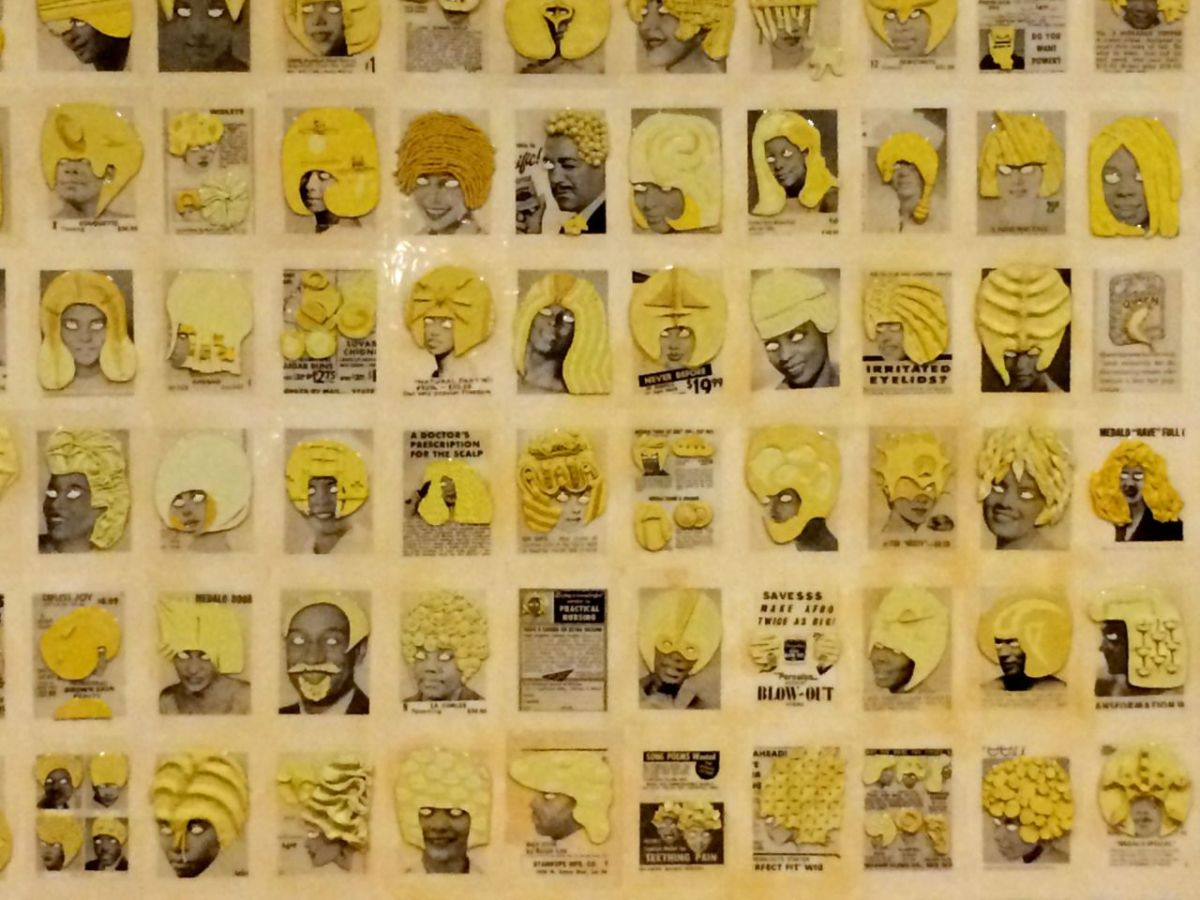 yellow hair exhibit at VAG