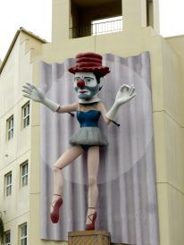 creepy man ballerina