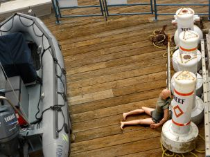 creepy lifeboat mannequin