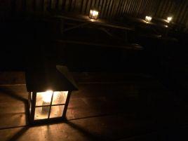 lanterns picnic tables