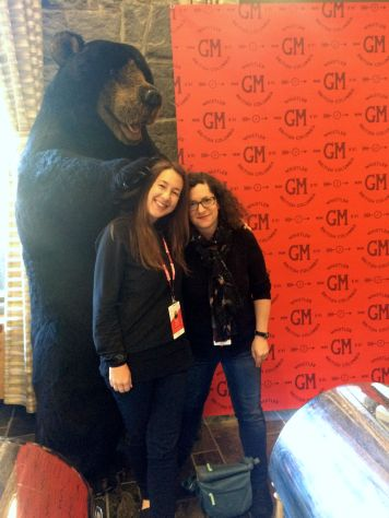 kp and Sheri with bear