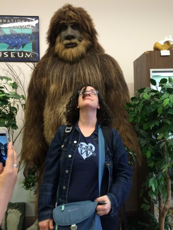 kp looking up at Sasquatch