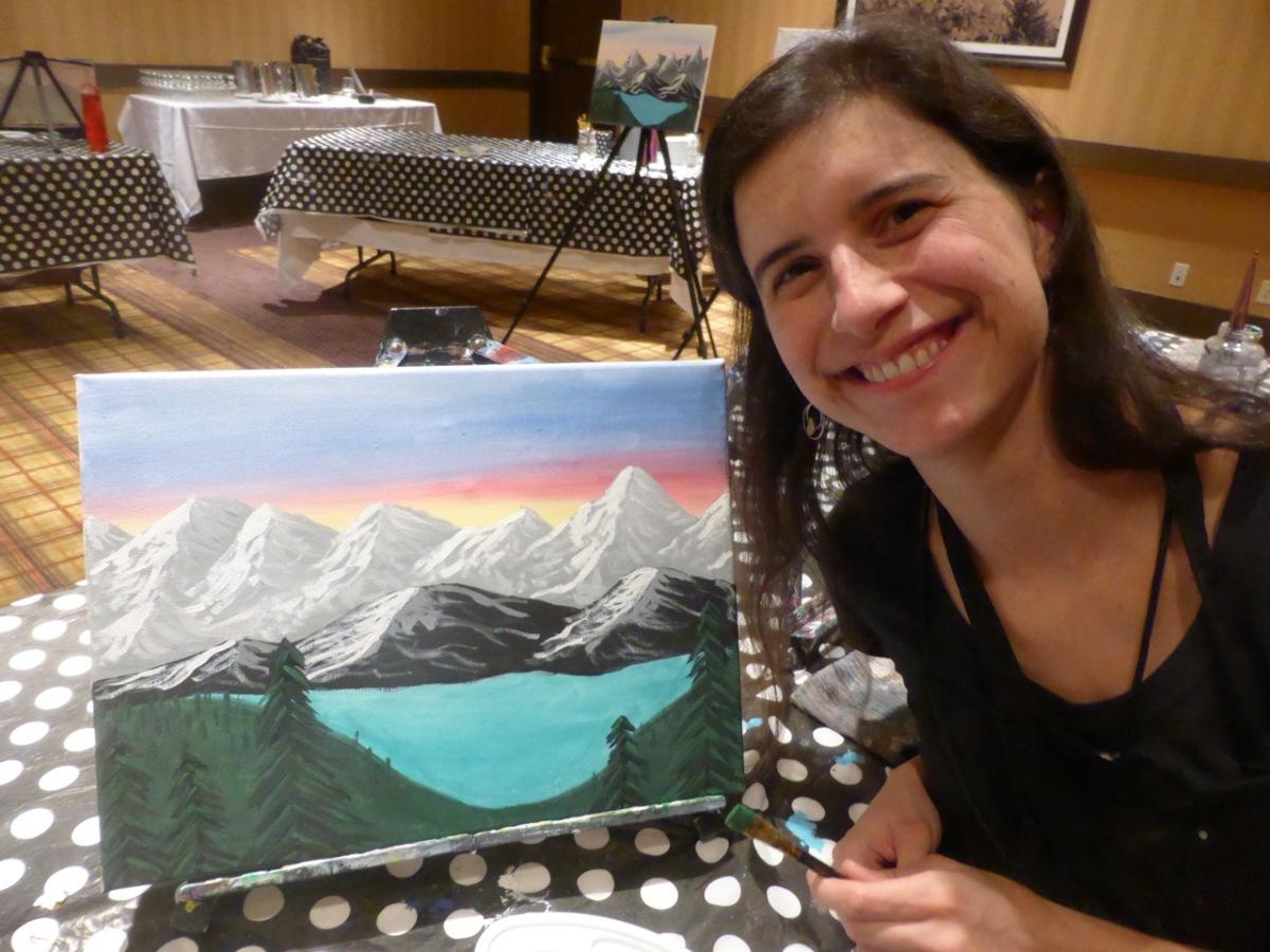 Rachel & painting