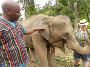 Colin with elephant