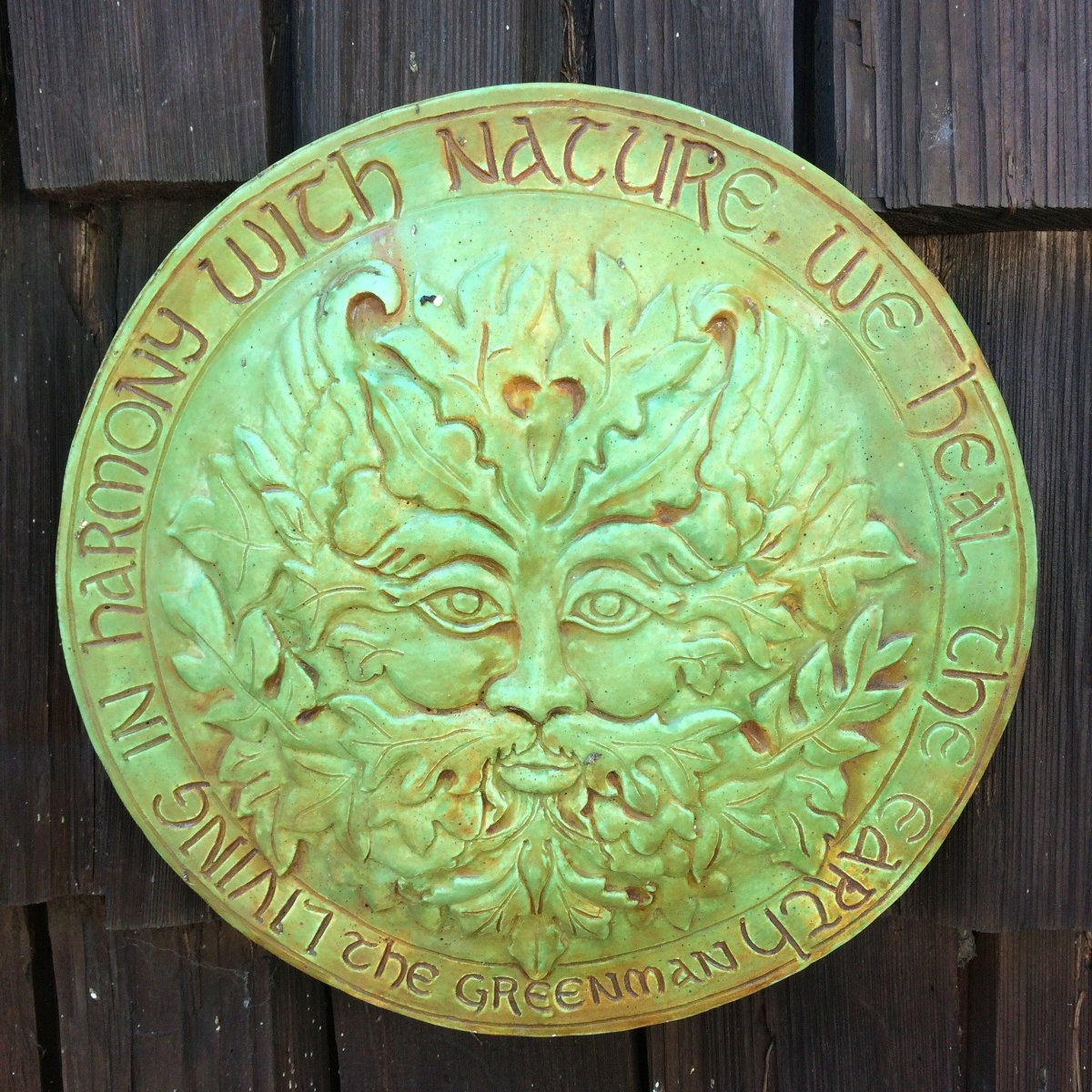 plaque - harmony with nature
