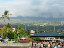 low clouds over Kona