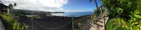 panorama of bay and ocean