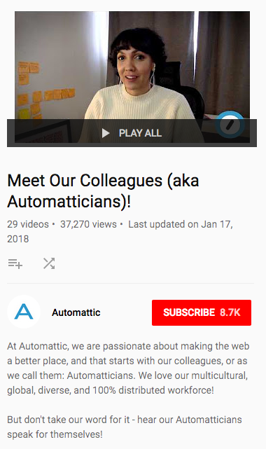 Meet our colleagues - YouTube screenshot