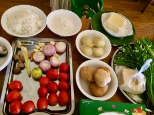 ingredients for Inle Lake cooking class