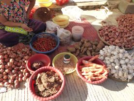 piles of produce on ground
