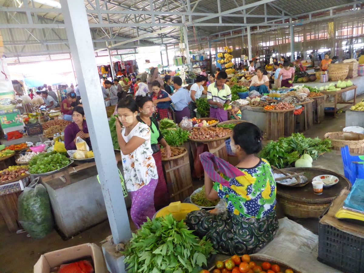 wide view of market