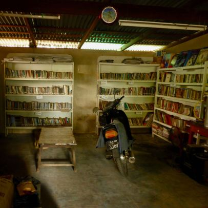 May's garage library