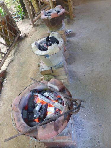 open-fire charcoal stoves