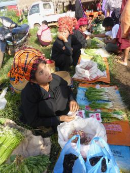 woman selling produce
