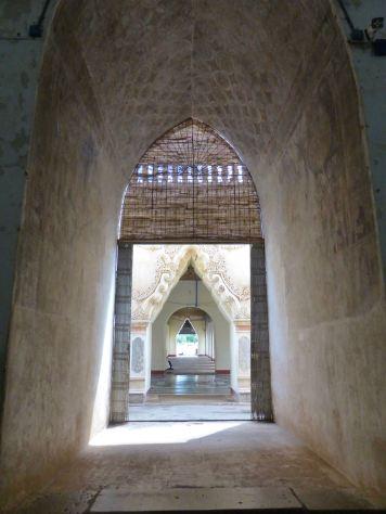 Bagan - Looking through doorway arches