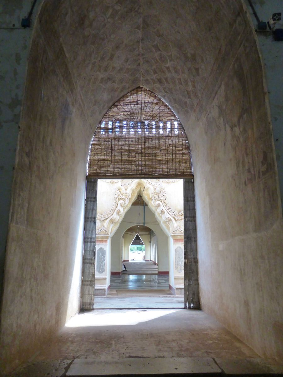 Bagan - Looking through doorway arches