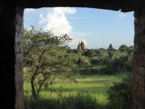 Bagan - Pagodas through doorway