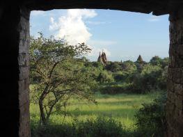 Bagan - Pagodas through doorway