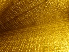 Gold walls and ceilings