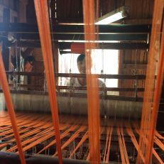 weaving orange lotus fibre