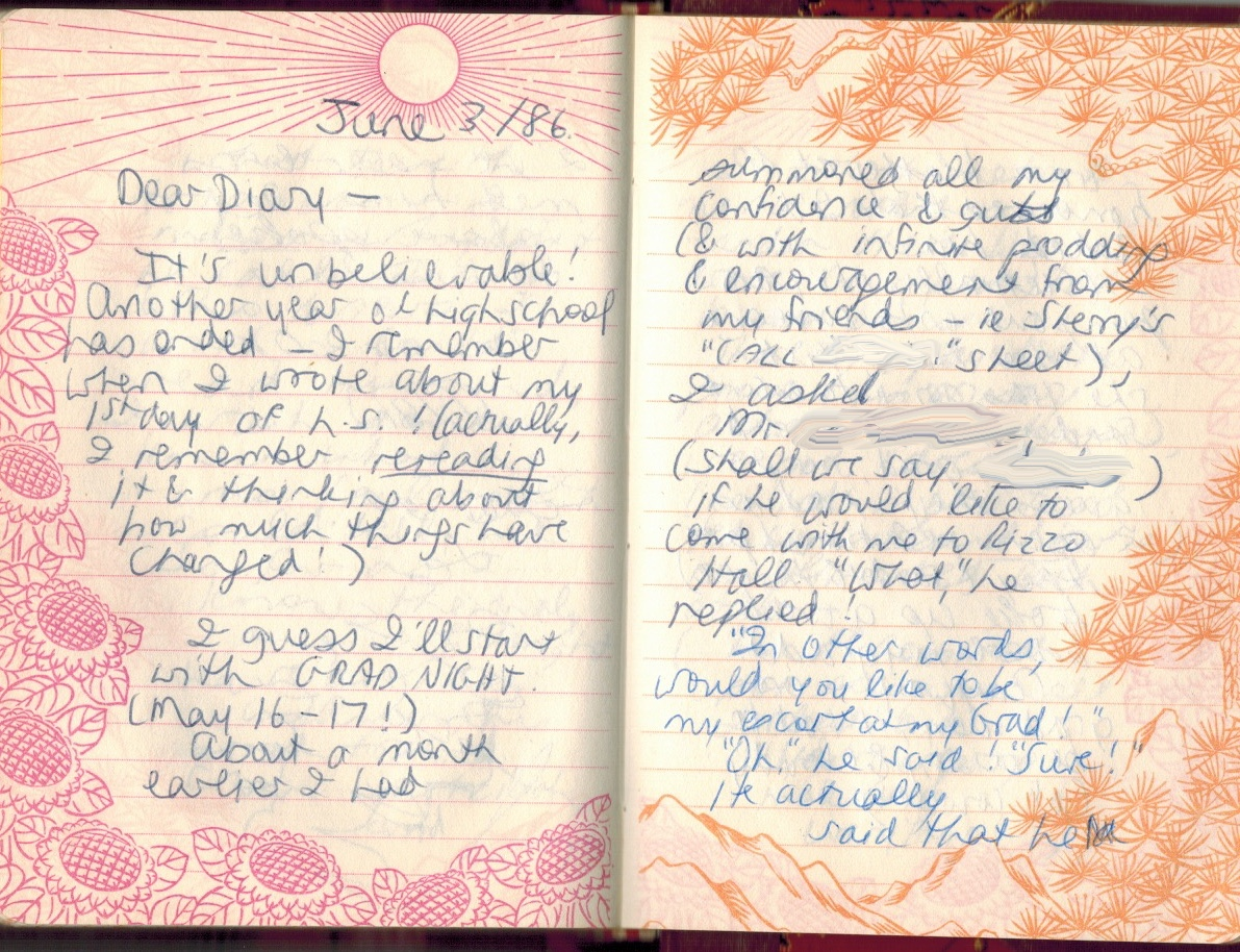 diary page