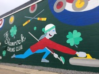 colourful curling mural