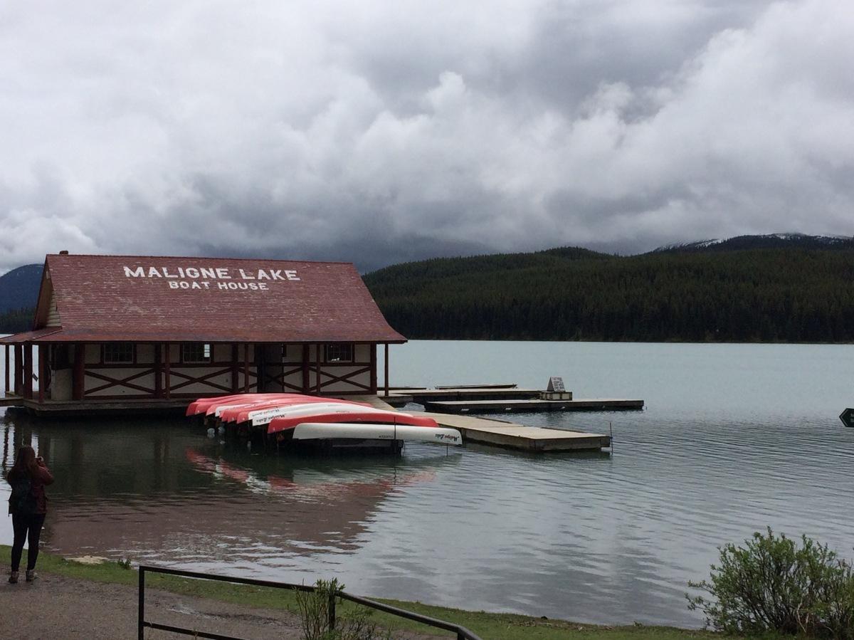 Maligne Lake boathouse