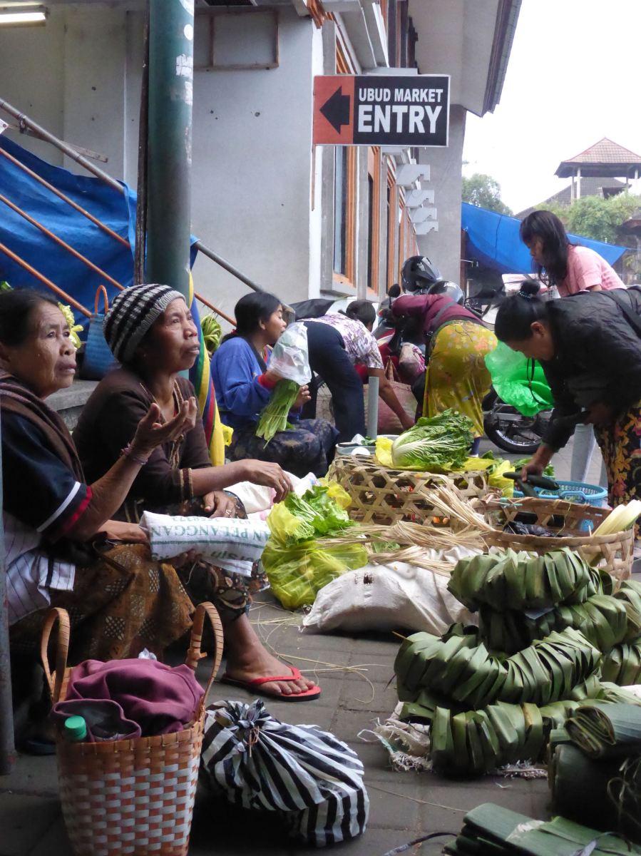 women selling produce