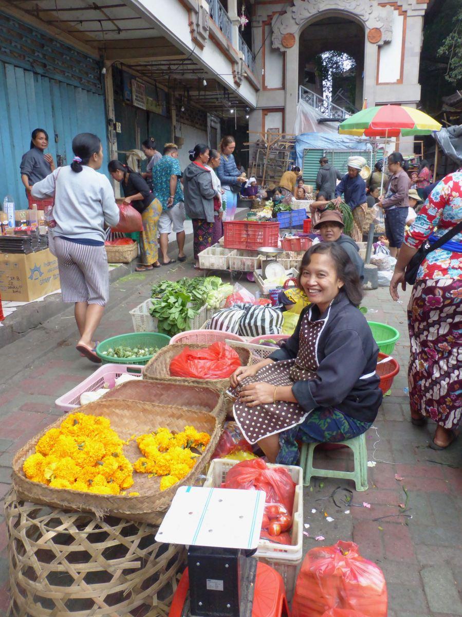 smiling market seller