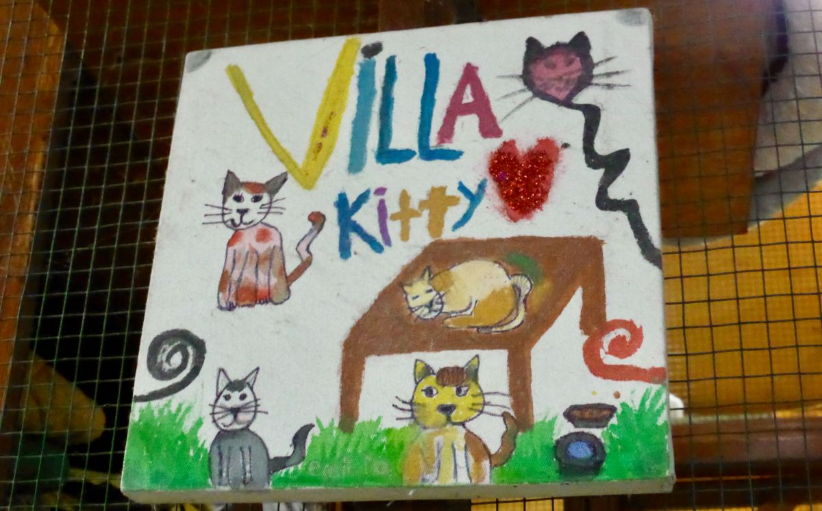 Villa Kitty kid's drawing